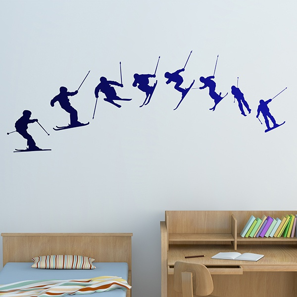 Wandtattoos: Ski Evolution 180º