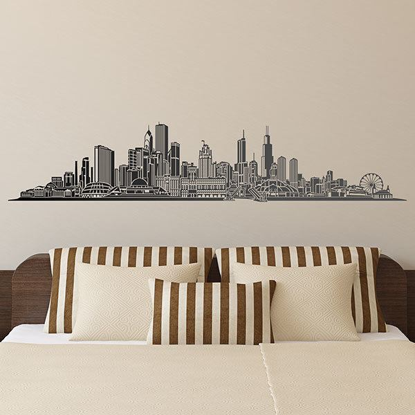 Wandtattoos: Chicago skyline