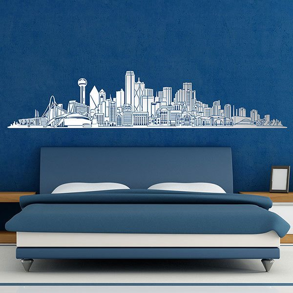 Wandtattoos: Dallas Skyline