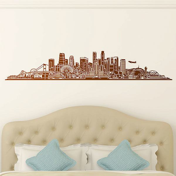 Wandtattoos: Los Angeles Skyline