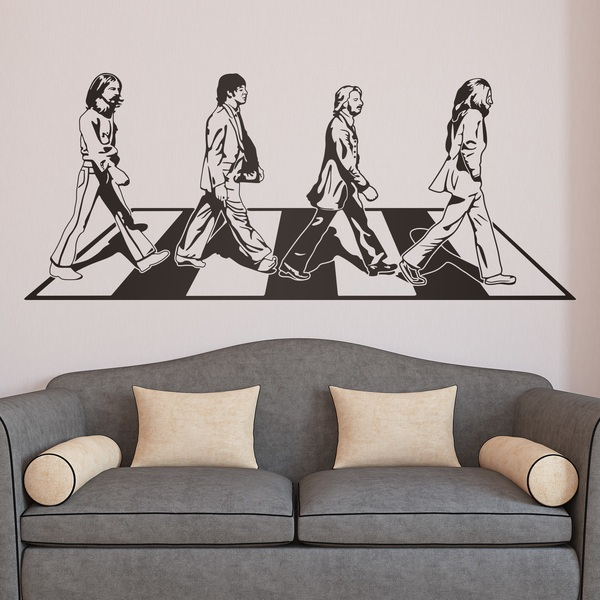 Wandtattoos: Beatles auf der Abbey Road