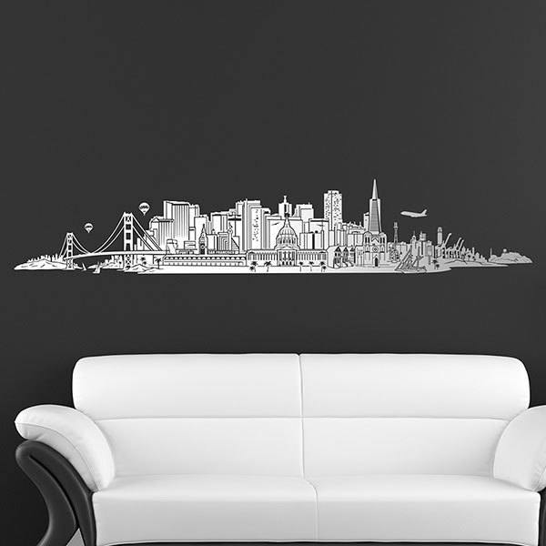 Wandtattoos: San Francisco Skyline