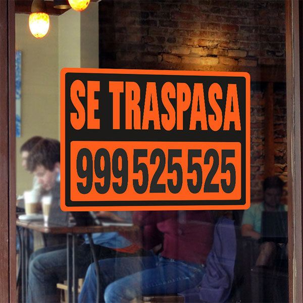 Wandtattoos: Orange Traspasa