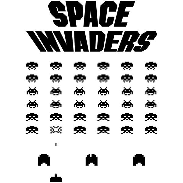 Wandtattoos: Space Invaders Game