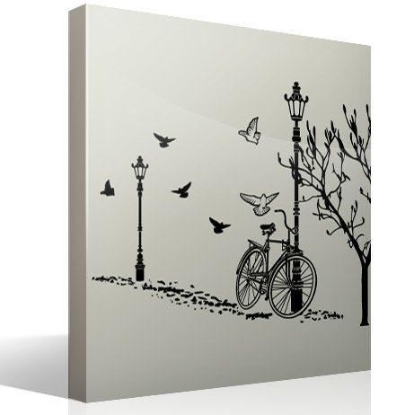 Wandtattoos: Autumn Bike