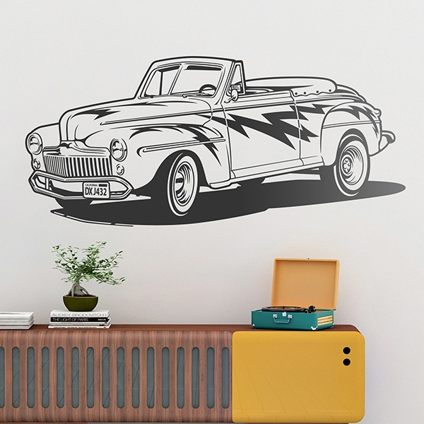 Wandtattoos: Grease, Ford Convertible 1948
