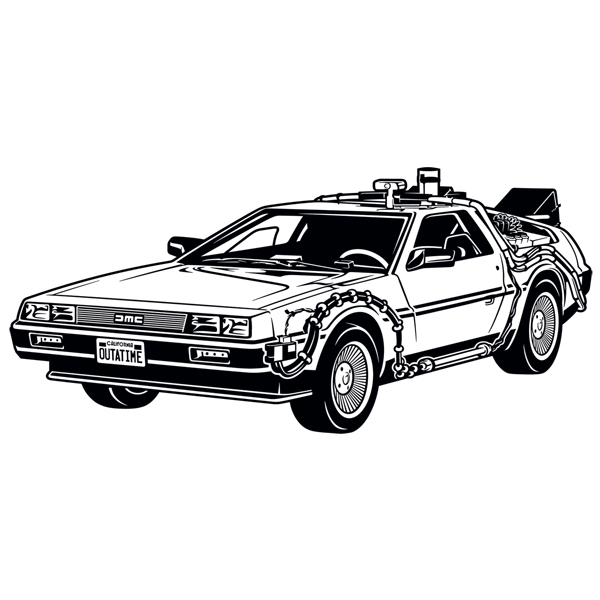 Wandtattoos: Doc's DeLorean