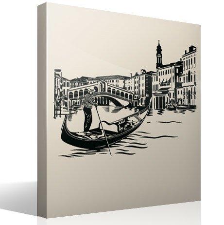 Wandtattoos: Rialto-Brücke in Venedig
