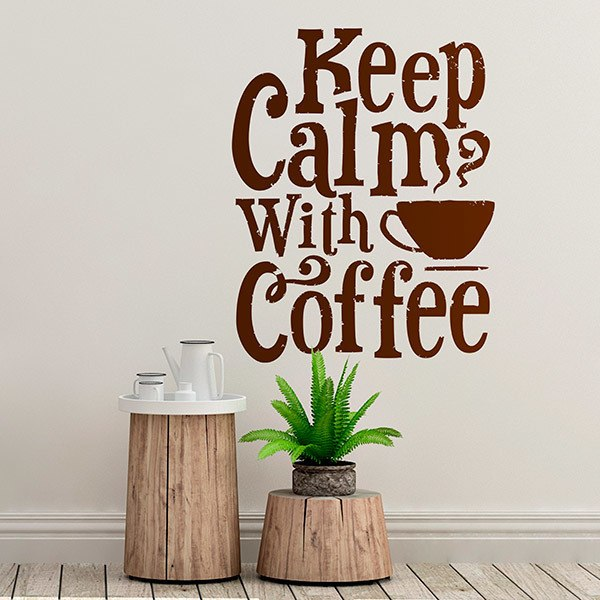 Wandtattoos: Keep Calm with Coffee