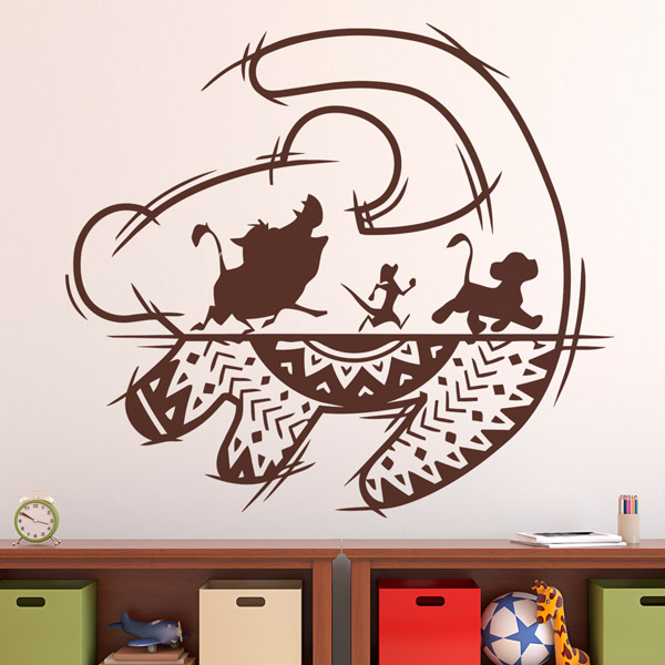 Kinderzimmer Wandtattoo: Kunst The Lion King