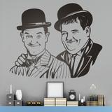 Wandtattoos: Laurel und Hardy 0