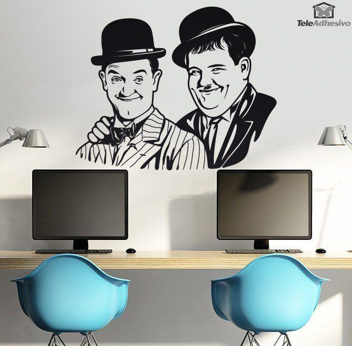 Wandtattoos: Laurel und Hardy