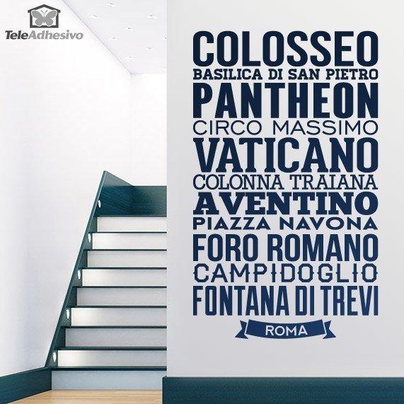 Wandtattoos: Typografische Rom