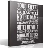 Wandtattoos: Typografische Paris 2