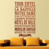 Wandtattoos: Typografische Paris 3