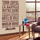 Wandtattoos: Typografische Paris 4