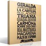 Wandtattoos: Typografische Sevilla 2