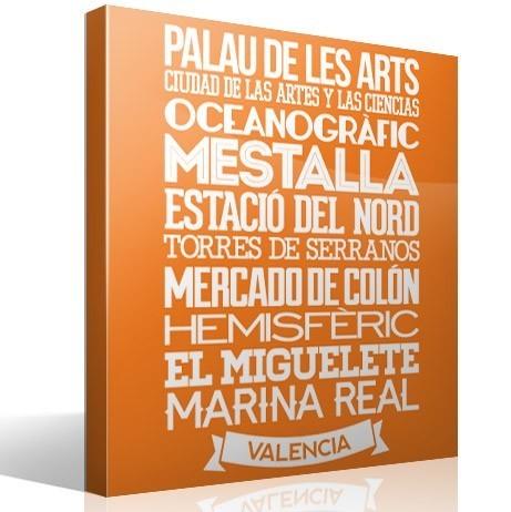 Wandtattoos: Typografische Valencia