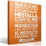 Wandtattoos: Typografische Valencia 2