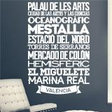 Wandtattoos: Typografische Valencia 3