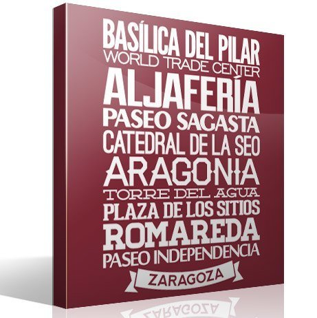 Wandtattoos: Typografische Saragossa