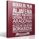 Wandtattoos: Typografische Saragossa 1