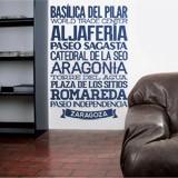 Wandtattoos: Typografische Saragossa 2