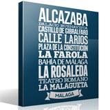 Wandtattoos: Typografische Malaga 2