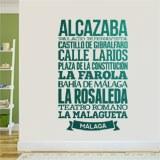 Wandtattoos: Typografische Malaga 3