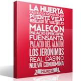 Wandtattoos: Typografische Murcia 2