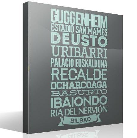 Wandtattoos: Typografische Bilbao