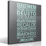 Wandtattoos: Typografische Bilbao 1