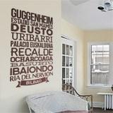 Wandtattoos: Typografische Bilbao 2