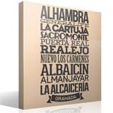 Wandtattoos: Typografische  Granada 2