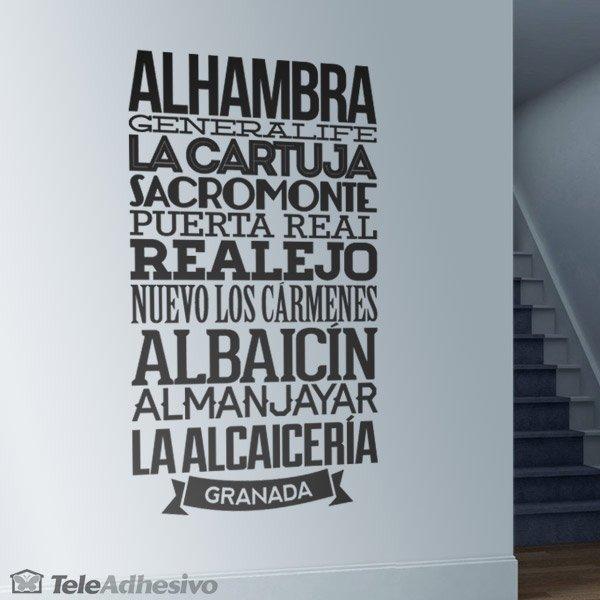 Wandtattoos: Typografische  Granada