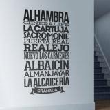 Wandtattoos: Typografische  Granada 3