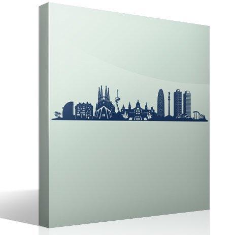 Wandtattoos: Barcelona Skyline