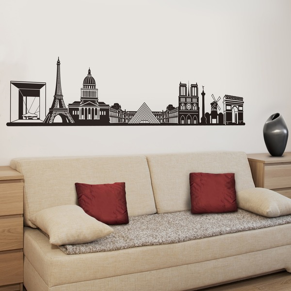 Wandtattoos: Paris Skyline