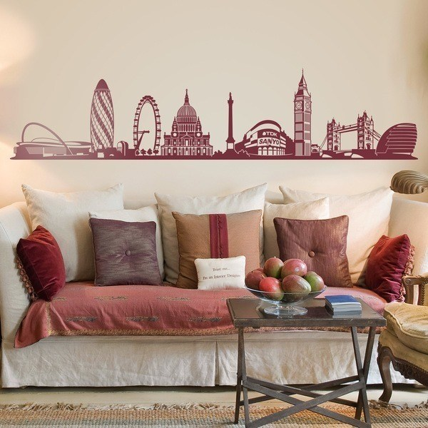 Wandtattoos: Skyline von London