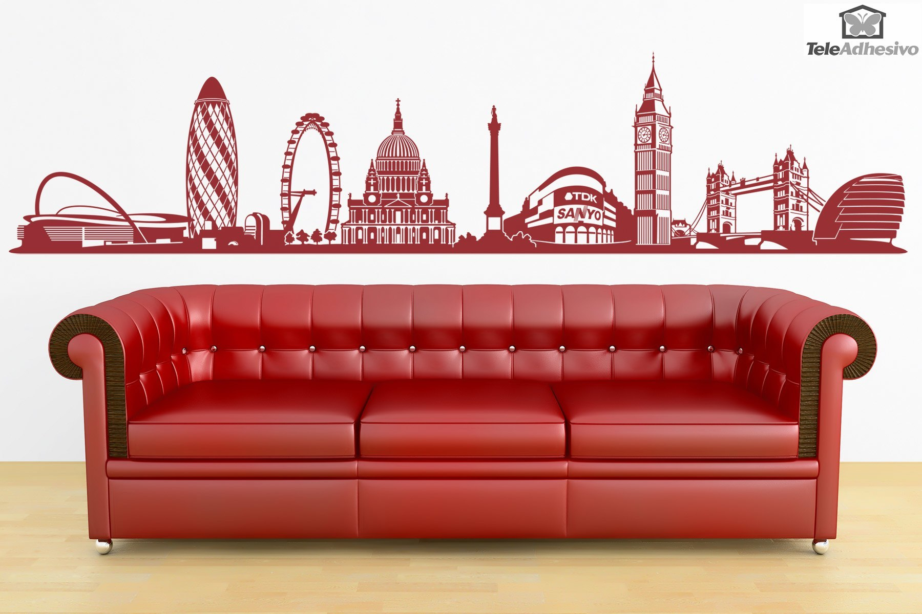 wandtattoo skyline von london. Black Bedroom Furniture Sets. Home Design Ideas