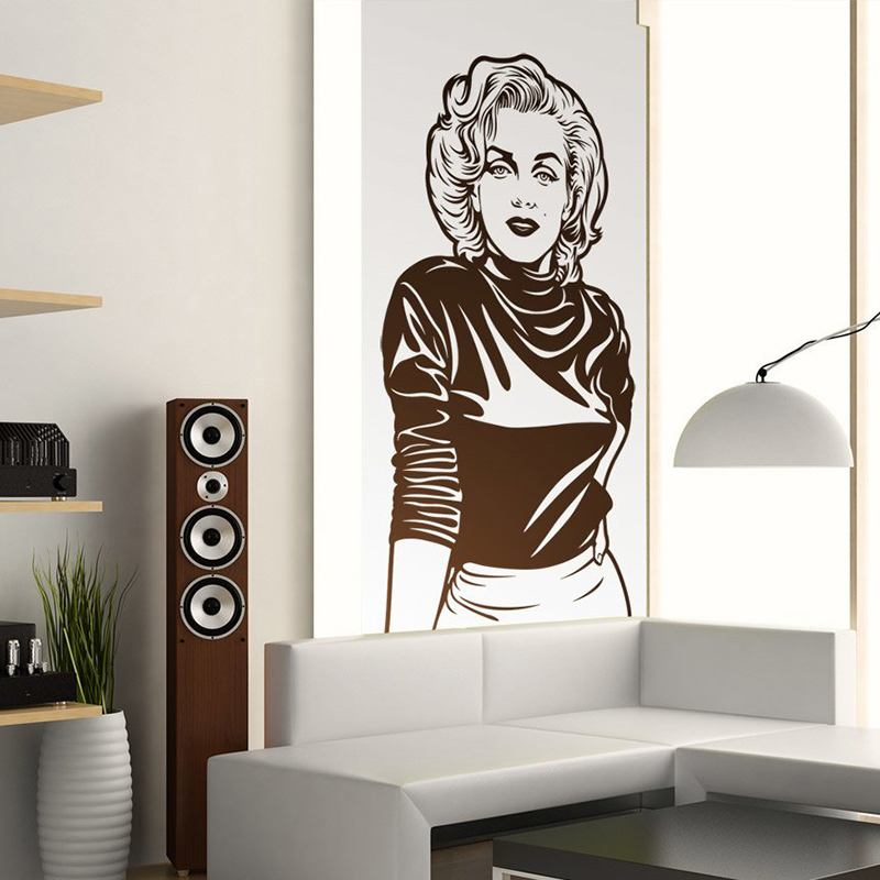 wandtattoo marilyn monroe. Black Bedroom Furniture Sets. Home Design Ideas