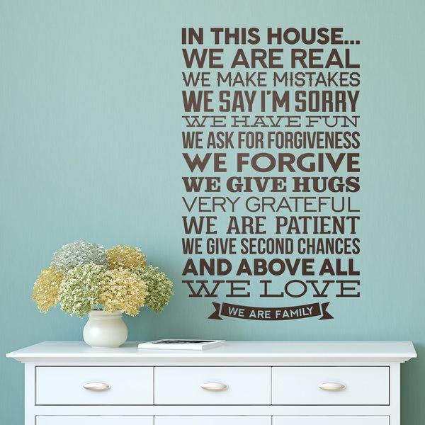 Wandtattoo In diesem Haus sind wir echt | WebWandtattoo.com