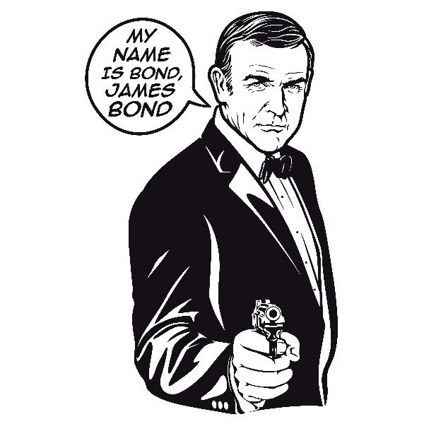 Wandtattoos: My name is Bond
