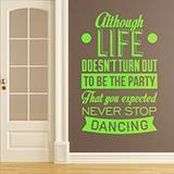 Wandtattoos: Never stop dancing 0