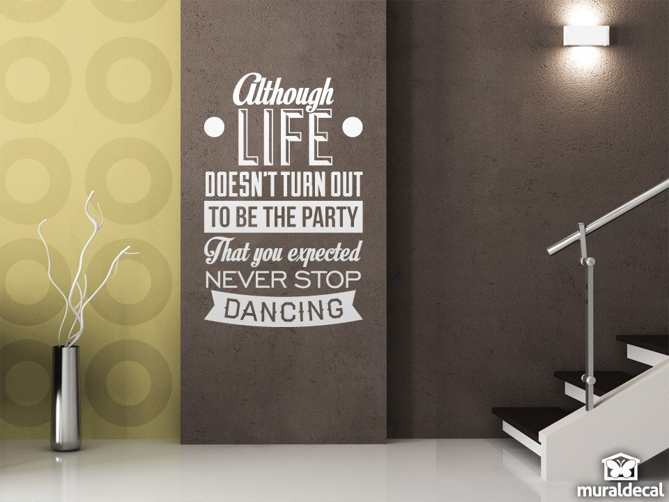 Wandtattoos: Never stop dancing