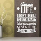 Wandtattoos: Never stop dancing 1