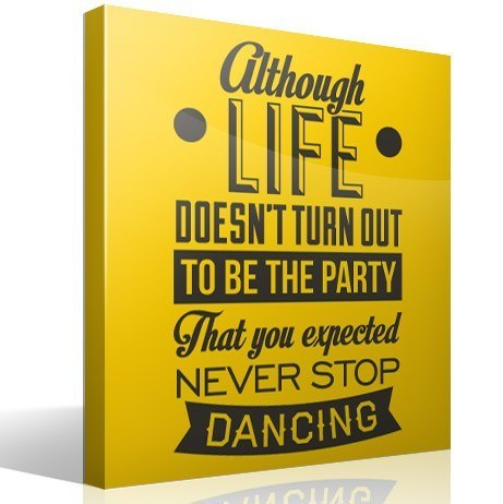 Wandtattoos: Never stop dancing