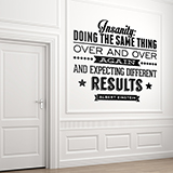 Wandtattoos: Insanity quote  0