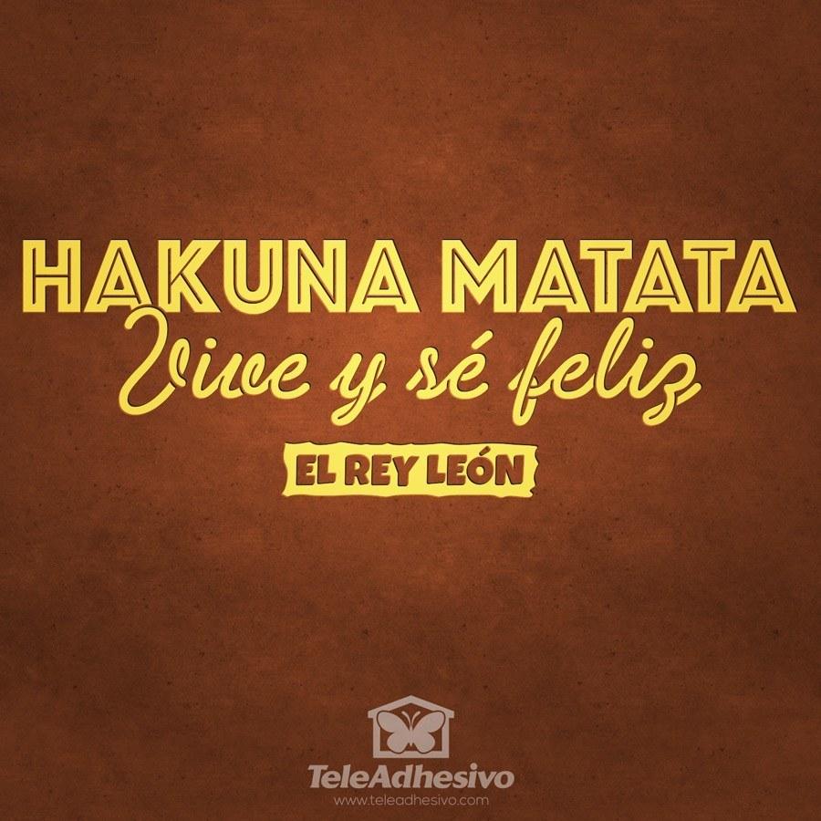 Wandtattoos: Hakuna Matata