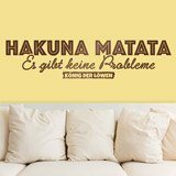 Wandtattoos: Hakuna Matata in Deutsch 1